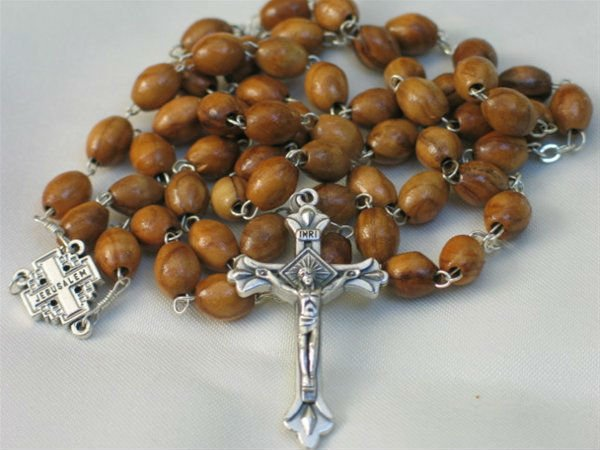 Olive Wood Bethlehem Holy Land Rosary