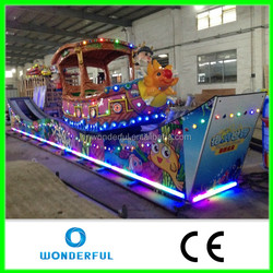 Beautiful sliding car with the lights.Exciting amusement rides mini flying car for sale