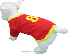 Sport dog tshirt / Football dog clothes / Wholesale plain dog t-shirts