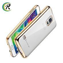 New arrival cover for samsung galaxy s5 Note 4 new transparent plating bumper tpu case