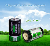 R14 UM2 C 1.5v zinc carbon manganese dry cell battery