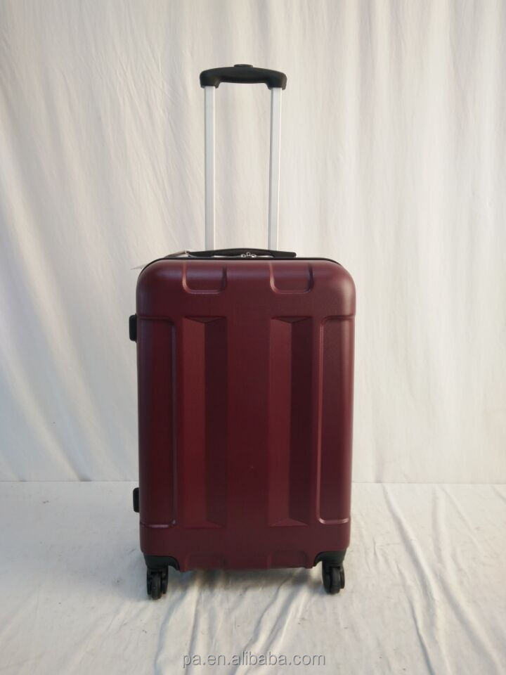new faddish design heavy-duty 100% PET luggage trolley bag