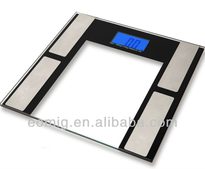 AS-F203 body fat hydration muscle bone scale with blue backlight and 10 person memory