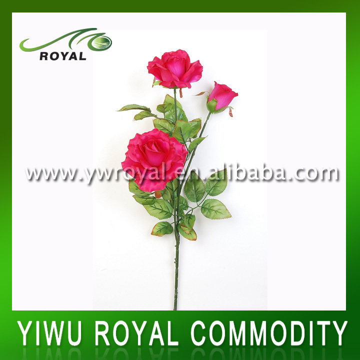 Cheap Red Rose Artificial Flower Bushes
