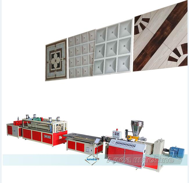 pvc wall panel tile manufacturing machine / extrusion line with double screw