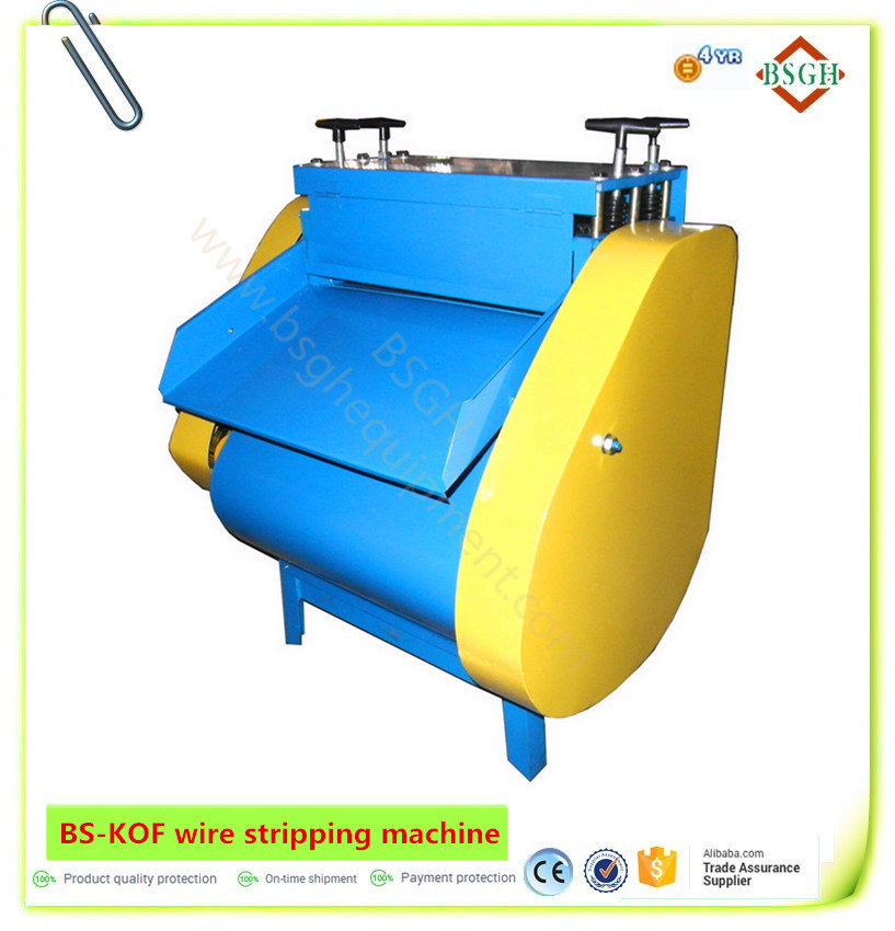automatic scrap eletric copper wire printing machine wholesaler used coaxial wire cable stripping cutting machinery for sale