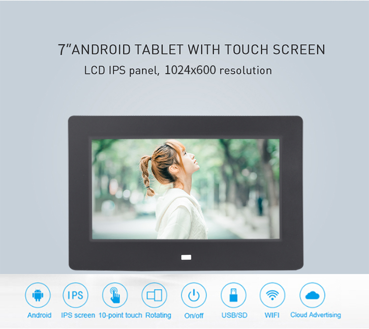 Top Selling 7 inch Android panel mount tablet 7.1inch advertising player Android tablet