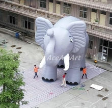 Factory directly Oxford fabric cute inflatable gray elephant offered by Ace Air Art/inflatable for advertising