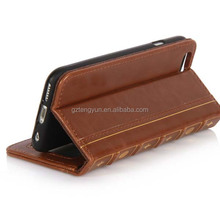 4.7 and 5.5 inch 2 in 1 Book Style PU Leather Cover Magnetic Phone Case Flip Leather Case For iPhone 6 and 6 Plus