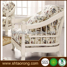 European style living room white wood antique resting chairs