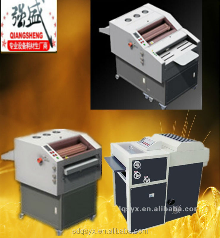 multi roller 480 UV coating machine with auto paper feeder