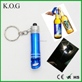 Painting Promotional keychain flashlight,keychain flashlight with bottle opener