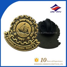 Bronze antique gold military rank insignia custom lapel pin badges manufacturer in Shenzhen China