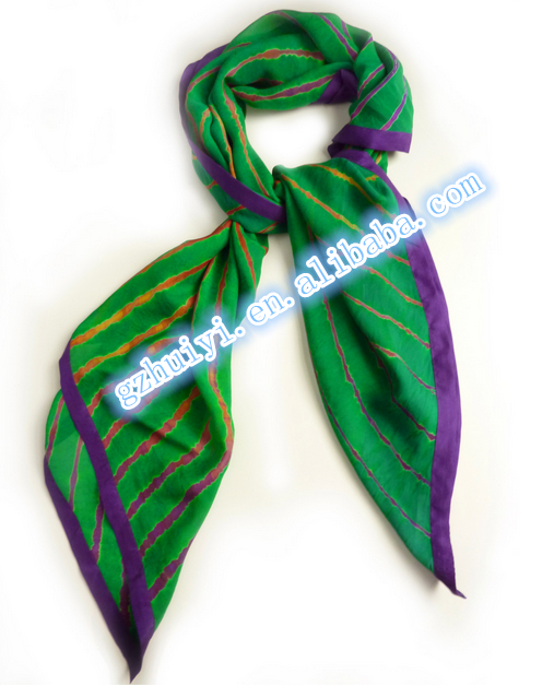 Top Fashion High Quality Pure Silk Scarf Customized