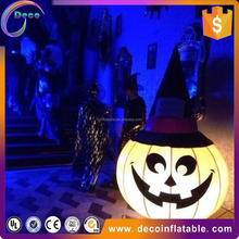 glow inflatable pumpkin for halloween decoration