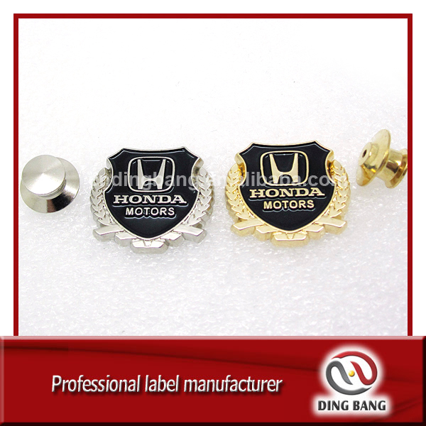 Professional OEM Factory High Quality Soft Enamel Type Military Cluth Type Custom Decorative Gold /Sliver Car Logo Lapel Pin
