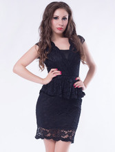 Wholesale new sexy black lace dress for office