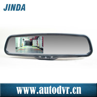 4.3 inch color TFT LCD car rearview mirror mount holder for car, auto brightness change with electric rearview mirror