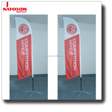 Customized single double layer feather banner advertising beach flag