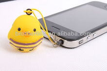 hot item fashion earphone dust plug with various shape for phone or MP3/MP4/MP5/PC