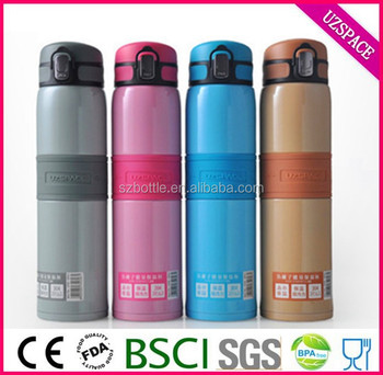 18oz 480ml insulated wide mouth stainless steel water bottle