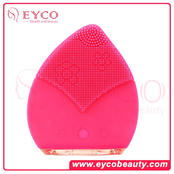 Natural Silicone Electric Facial Cleansing Brush Rechargeable Face Cleaning for Face SPA Skin Care Face massage