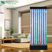 Bamboo Shape LED Water Bubble Wall Panel, Acrylic Material, Wooden Package