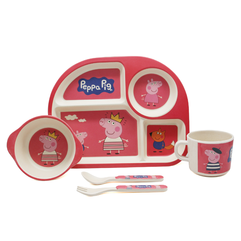 Peppa Pig biodegradable bamboo children <strong>plates</strong>