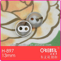 fancy 2 holes transparent resin shirt button