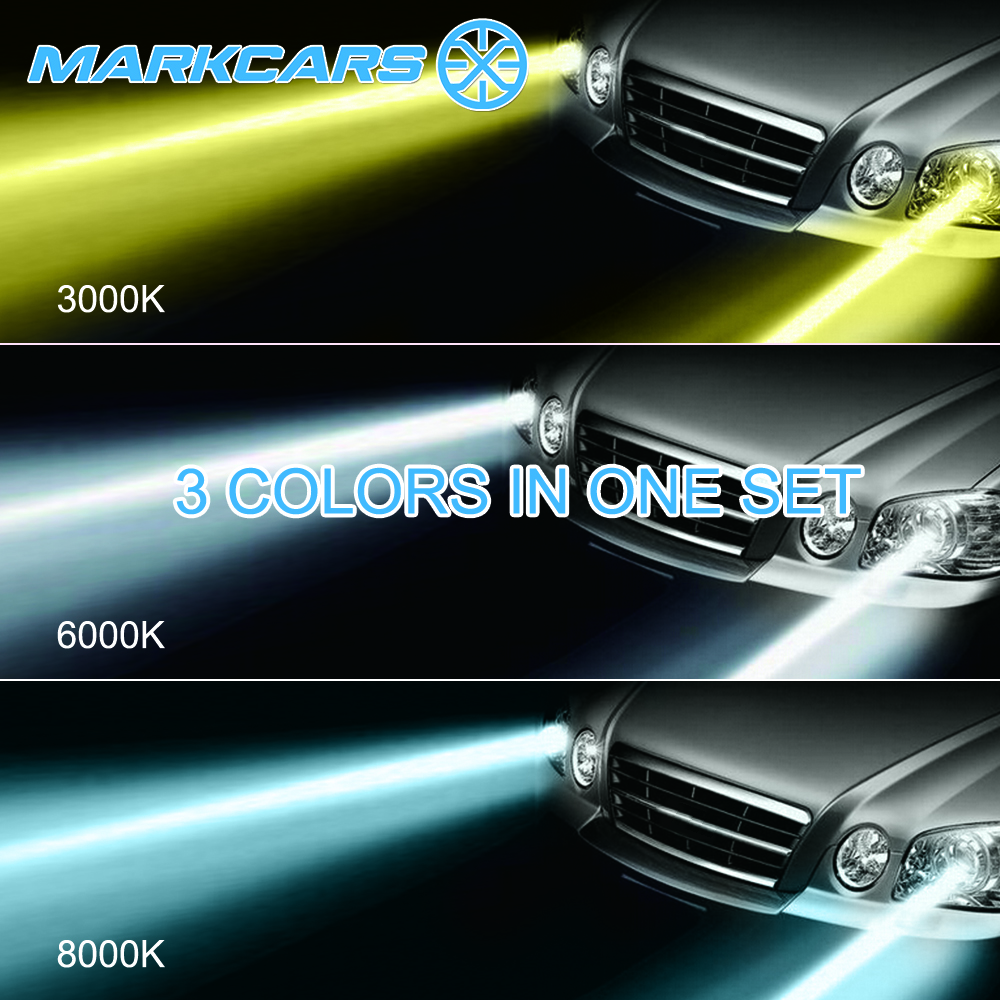 Markcars RoHS IP68 CE EMark hot sale V4 color temperatures auto lights led