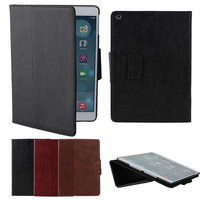 2014 New Arrival Luxury Carzy Horse Leather Cases for iPad Air iPad 5