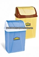 plastic click bin with decor