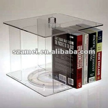 Rotating Compartment acrylic book holder in stock