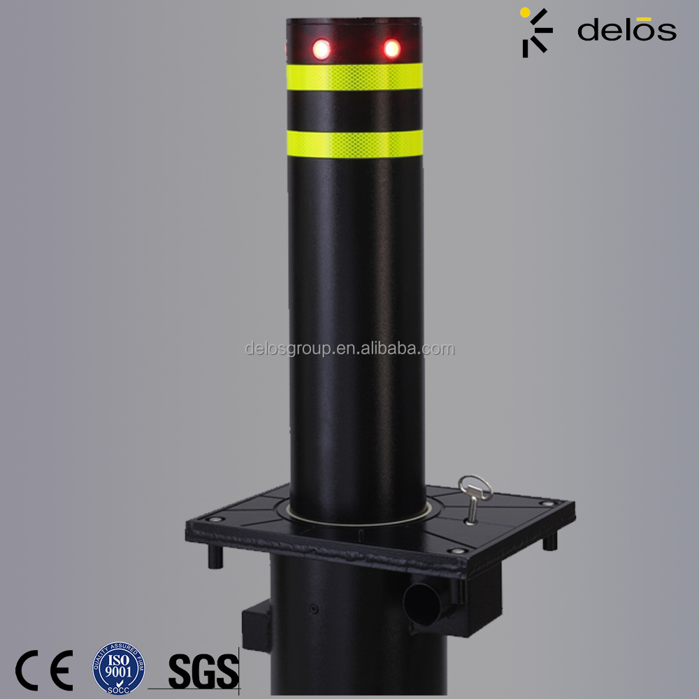 Road Barrier 304 Stainless Steel Metal Parking Safety Semi-automatic Bollard