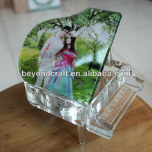 custom photo and song crystal piano as gift/crystal music box