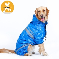 New design large blue pet raincoat accessories for dogs
