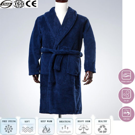 cheap blue heated towel bathrobe, bathrobe factory