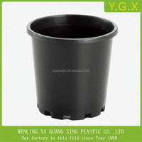 Black nursery pot plastic flower nursery pot