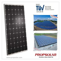 mono solar pv grade A cell module with 25 years warranty and lowest price