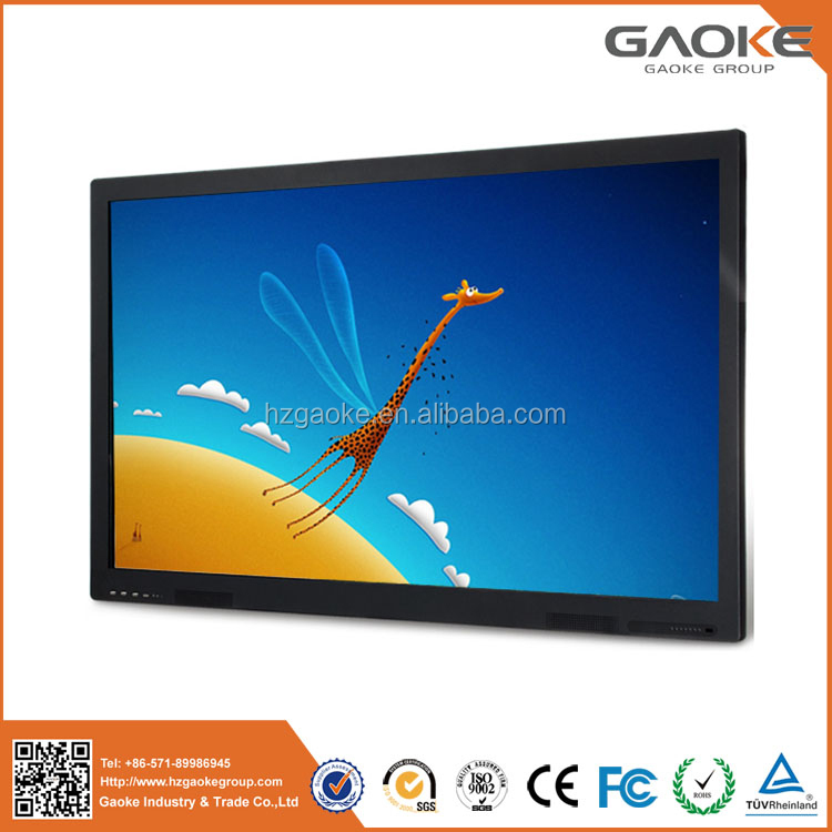 China manufacturer LED LCD smart TV monitor education electronic board multi touch screen flat panel