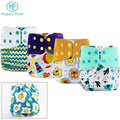 Happy flute Printed PUL One Size Pocket Cloth nappy Pants Reusable Baby Diaper