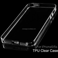 iPhone5s TPU Clear Case Ultra Thin Transparent Phone Bumper Protective Cover For iPhone5 5s