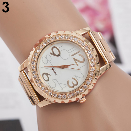 2015 New Fashion Ladies Watches Crystal Rhinestone Alloy Stainless Steel Analog Quartz Women Men Casual Relogio Wrist Watch