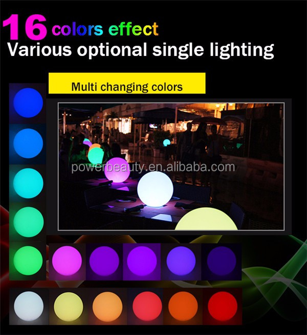 rechargeable outdoor plastic change remote control rgb color changing led ball