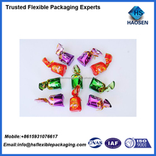 Laminated metalized twist candy wrapper candy packaging film roll/candy bag packaging