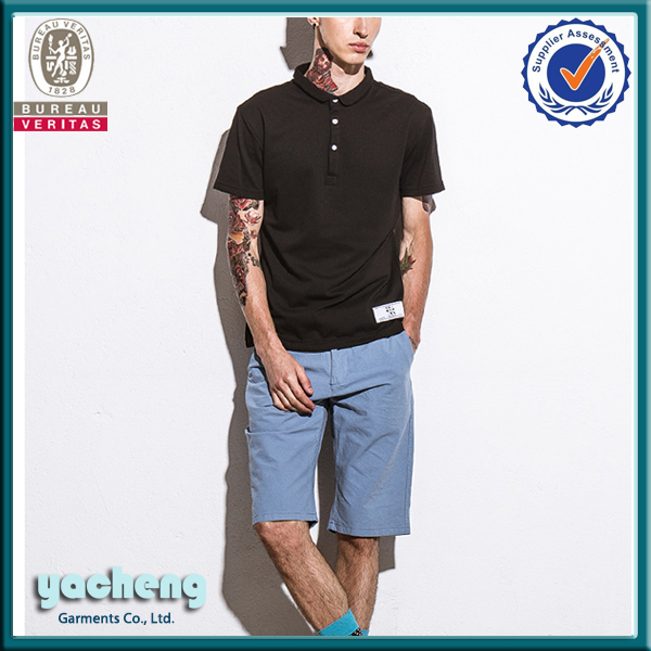 China wholesale men garment plain and blank high quality 100% cotton men's polo t shirt