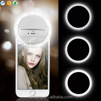 wholesale portable beauty flash LED selfie ring light