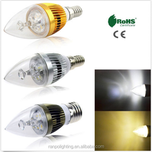 Ultra Bright E27 Plastic Edison Bulbs LED Candle light lamps dimmable 3W 4W 5W mini type AC220V China OEM factory high quality