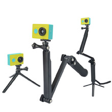 Sibotesi self stick monopod go pro adjustable tripod 3 way monopod used for xiaomi yi monopod 3 way grip arm