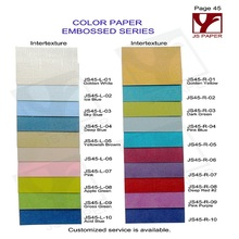 linen embossed single side color paper